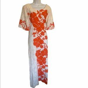 Vintage Penneys Hawaiian Floral Dress